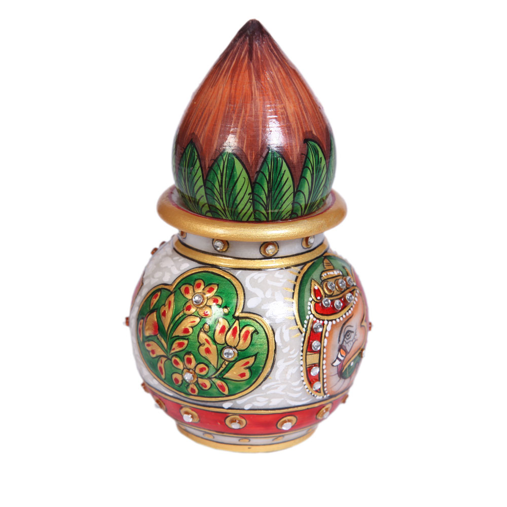 Home handicraft items marble handicraft items matki n kalash