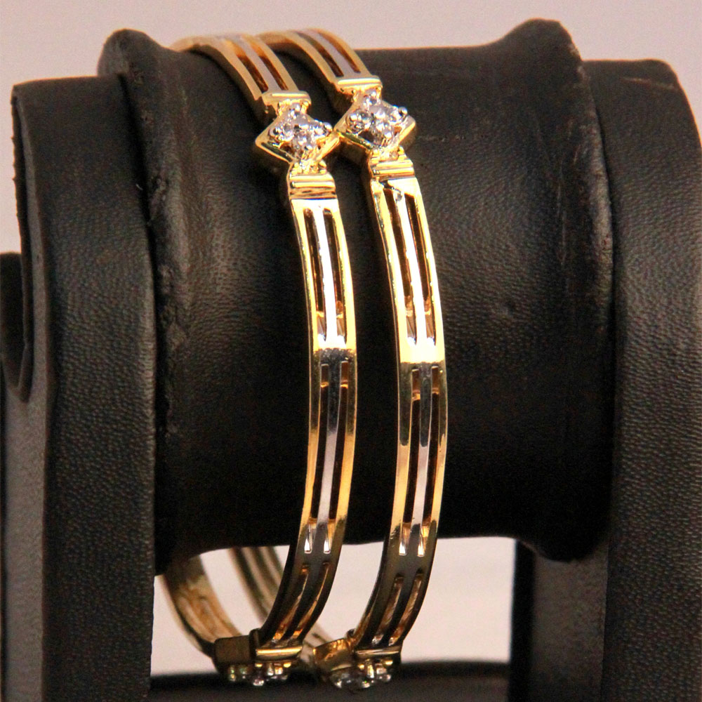 Bangles with micro thin layered gold