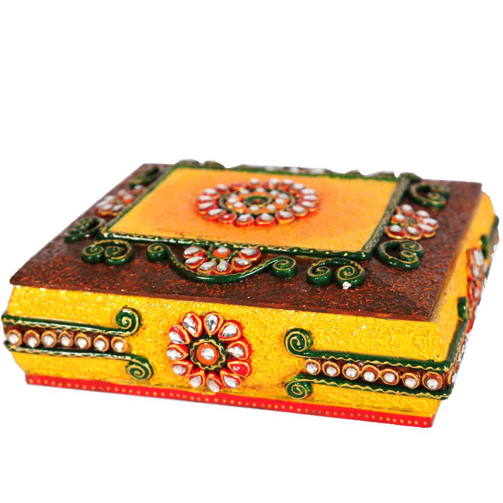 Home Handicraft Items Wooden Kundan Handicraft Items Designer minakari ...