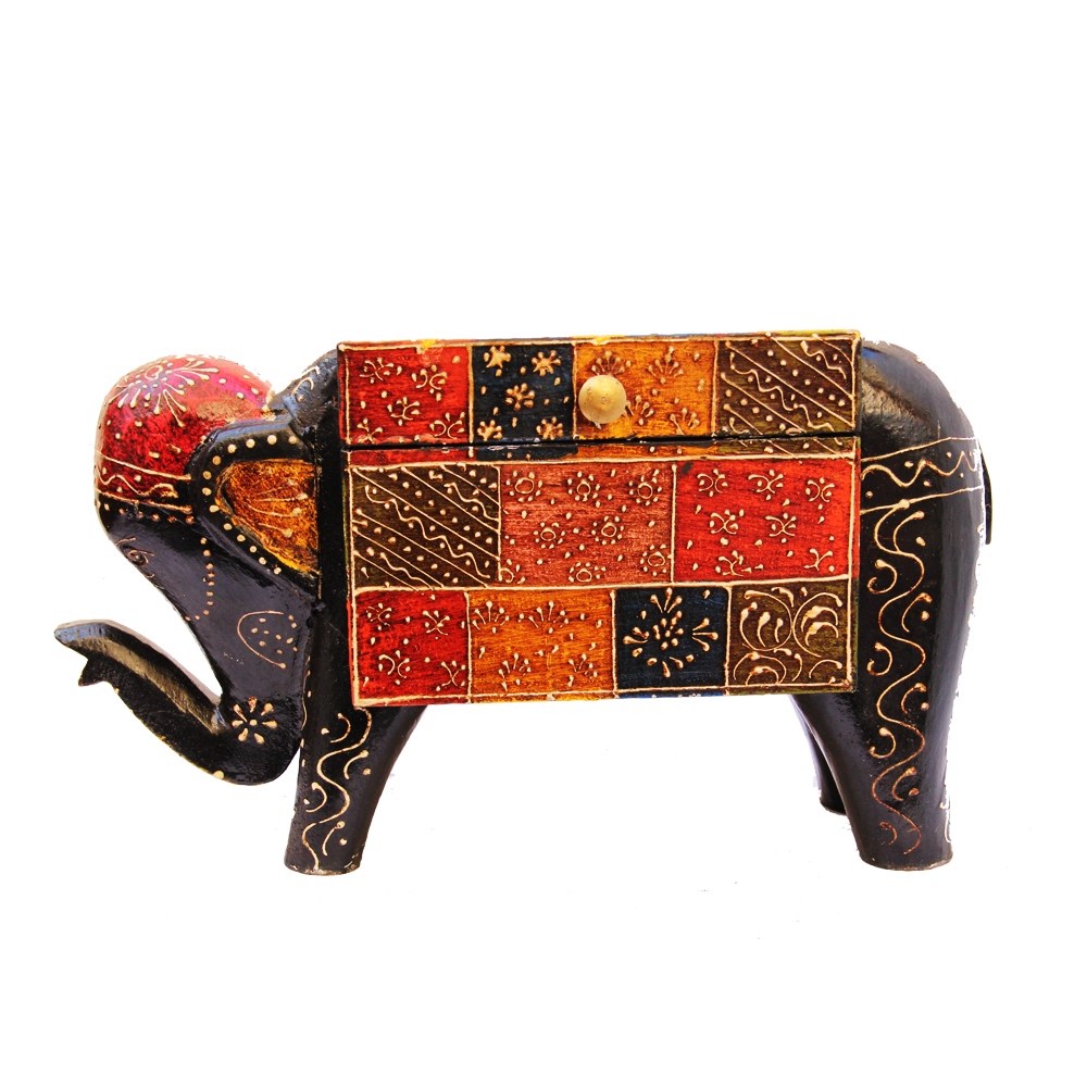 Wedding Gift Ideas Under 1000 Rupees : Get this Elephant Shaped Multicolor Embossed Box in Wood at Boontoon ...