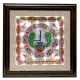 Wooden Fame Marble Clock with Peacock Painting and LED Lighting return gifts