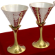 corporate gifts as Set of Four 2 Tone Wine Glasses in German Silver