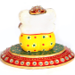 Marble Ganesh on oval shaped plate for gift purpose