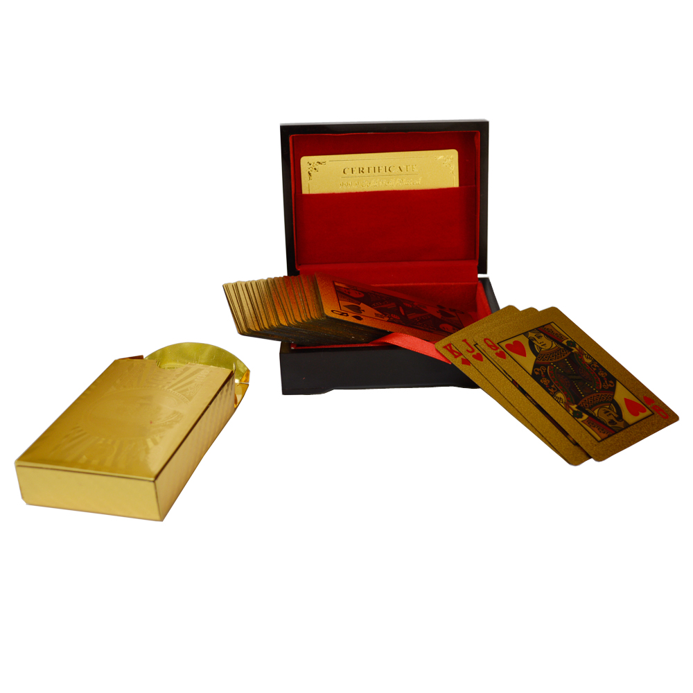 Gold Plated Playing Cards with Purity Certificate