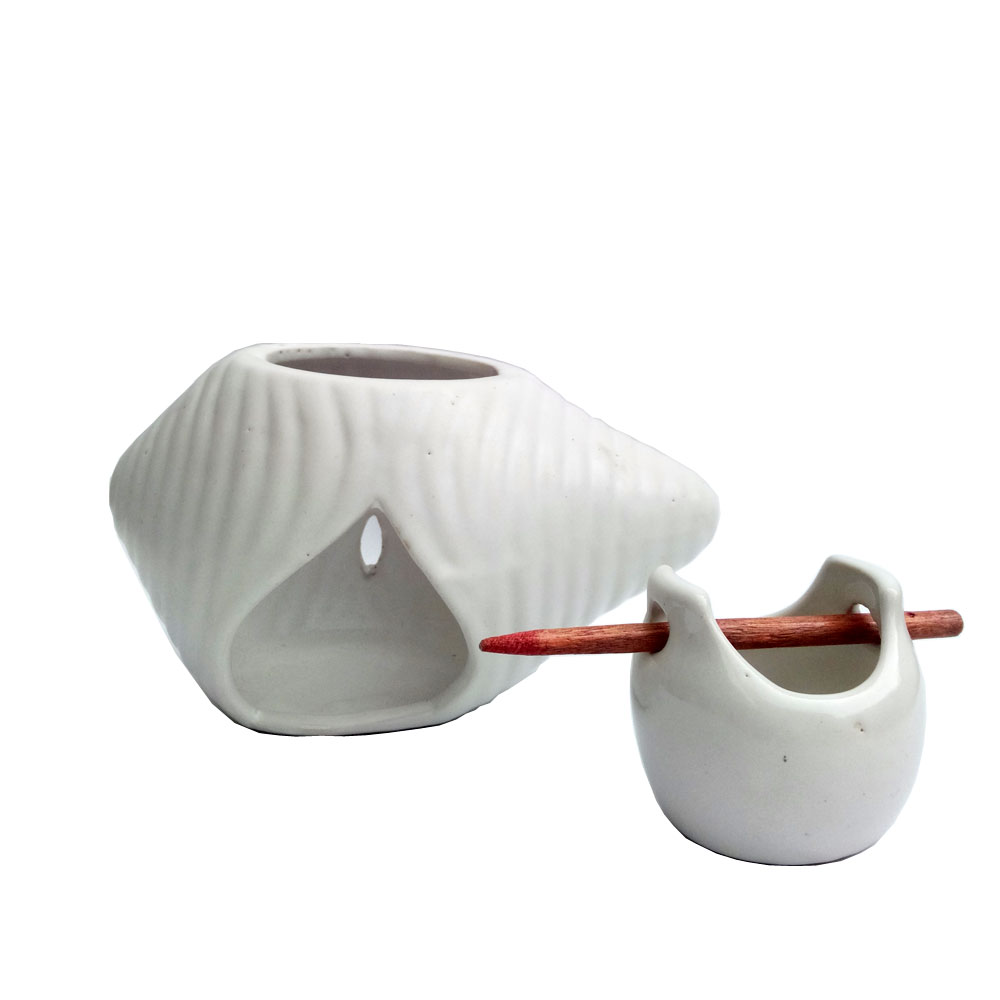 Manual candle aroma oil burner