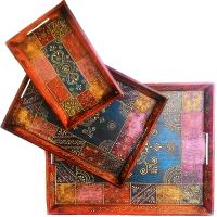 3-piece decorative tray set