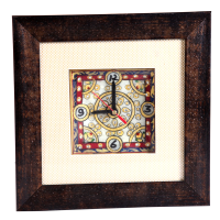 Traditional Marble Meenakari Handicrafts Clock Online