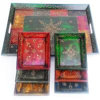 7-piece decorative tray set
