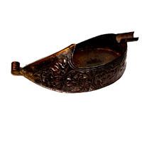 Brass metal decorative ashtray shaped as rajasthani shoes