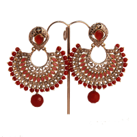 Brassed designer earrings