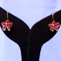 Coral desire earrings
