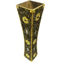 Decorated brass flower pot