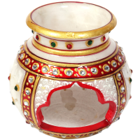 Decorative Marble Multicolor Candle Pot