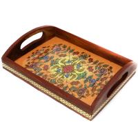 Designed Wooden Rectangular Tray