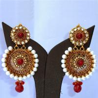 Designer brass earrings