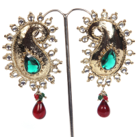 Designer earrings peacock shaped