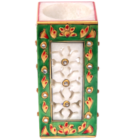 Marble Carved Pen Stand With Meenakari Work Online
