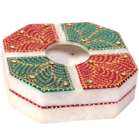 Traditional Marble Meenakari Indian Crafts Online Ash-Tray