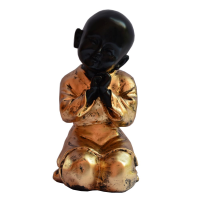 Exquisite Baby Monk Statue In Fiber