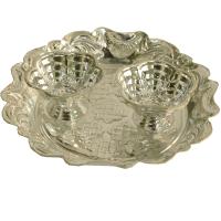 German Silver Round Shaped Plate Chopra