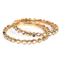 Graceful kundan designed bangles