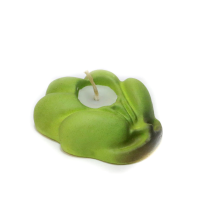 Green Terracotta Leaf Shaped Candle