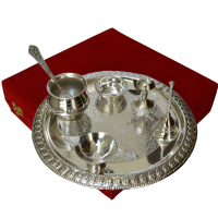 Pooja Thali Set in German Silver