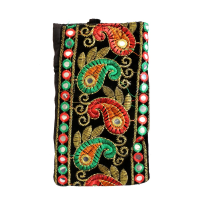 Handicraft Kairy Work Clutch Bag With Detailed Embroidery Designs