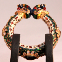 Ivory crafted bangles