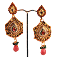 Long designer earrings