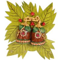 Kundan bell leaf key stand