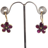 Metal base floral earrings