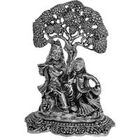 Oxidised Radha Krishna idol