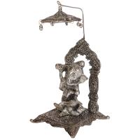 Oxidised ganesh with singhasan chatra