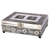Oxidised traditional velvet jewellery box