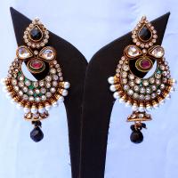 Pair of winged earrings