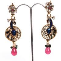 Peacock arted earrings