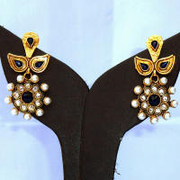 Pearl studded designer earrings