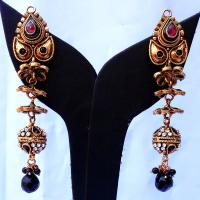 Red & black designer earrings
