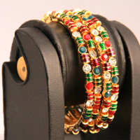 Red glittered bangles
