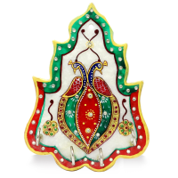 Richly decorated marble key holder