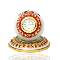 Round Marble Table Clock