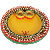 Round pooja plate