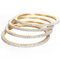 Set of 4 white ad bangles