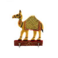 Standing Wooden Camel Key Stand