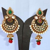Stone studded designer jhumki earrings