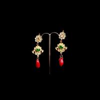 Triple tiered earrings