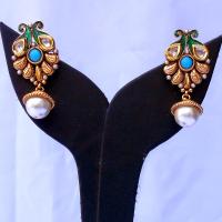Turquoise designer earrings