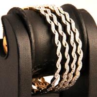 Wavy design 4 bangles set