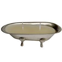 White Metal T-lite in Tub Shape For Home Decor